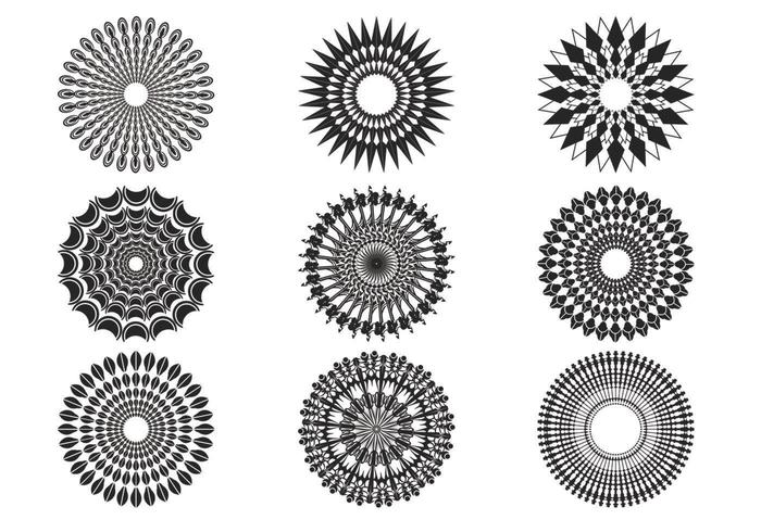 Vectores Decorativos Sunburst