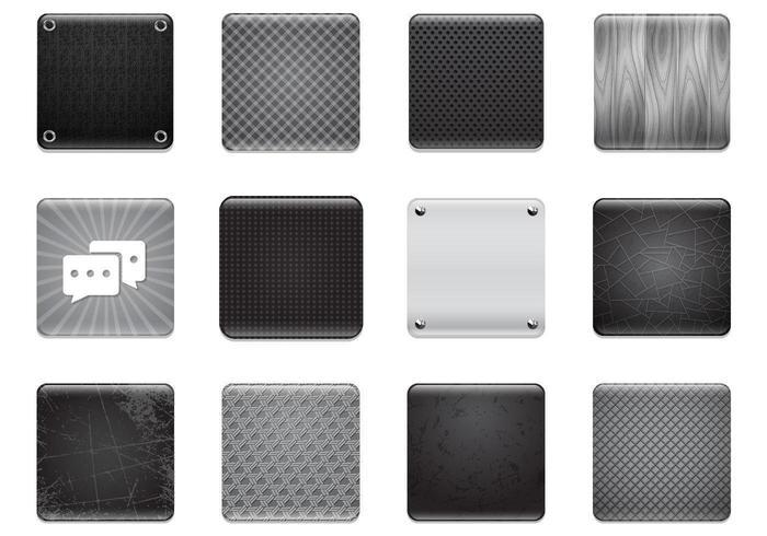 Black & Grey Apps Background Vector Set