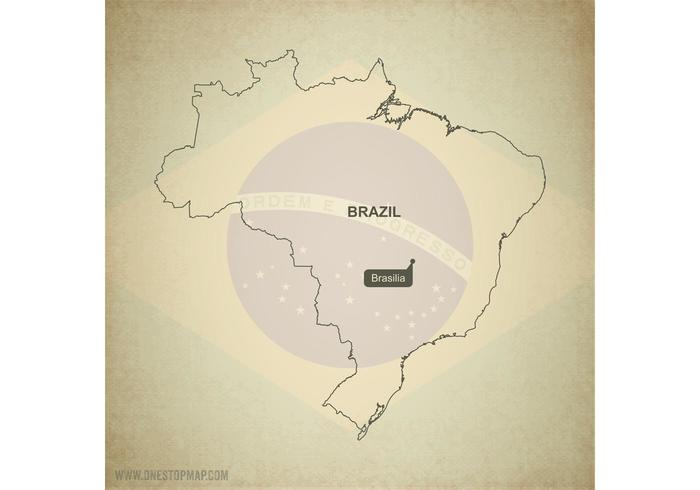 Free Vector Map of Brazil