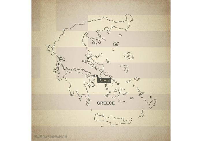 Free Vector Map of Greece