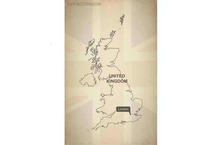 Free Vector Map of United Kingdom