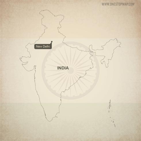 Carte vectorielle gratuite de l'Inde