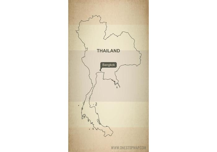 Free Vector Map of Thailand