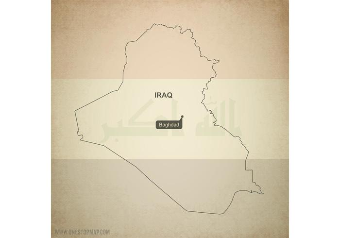 Free Vector Map of Iraq