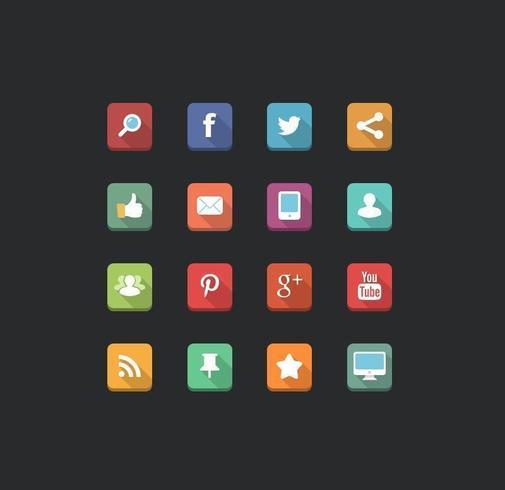 Vectores de los iconos de los medios sociales