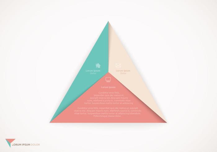 Origami-Dreieck-Design-Vektor