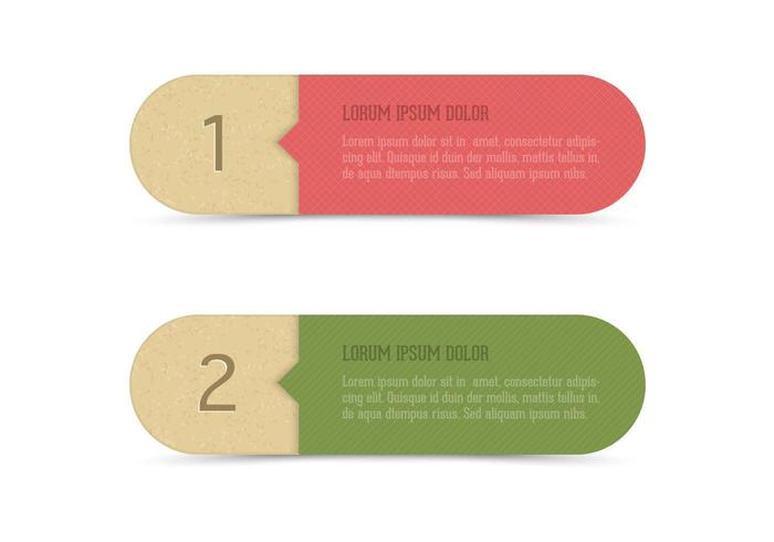 Recycled Paper Banner Set Vector