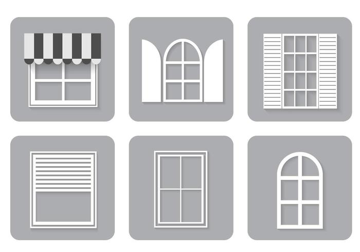 Fenêtre Icons Vector Set