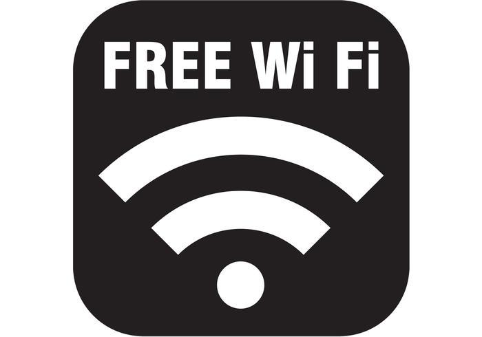 Icône de vecteur wifi gratuit