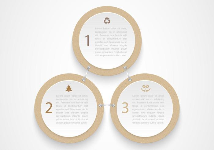Vector de círculos de cartón