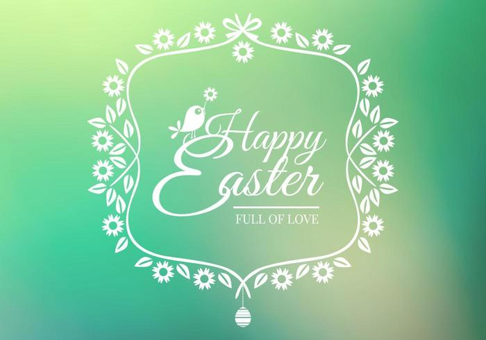 Bokeh Happy Easter Vector Background