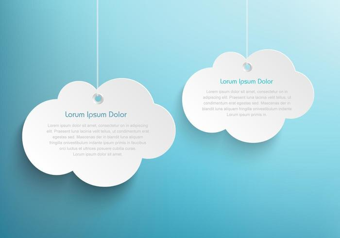 Hanging Clouds Background Vector