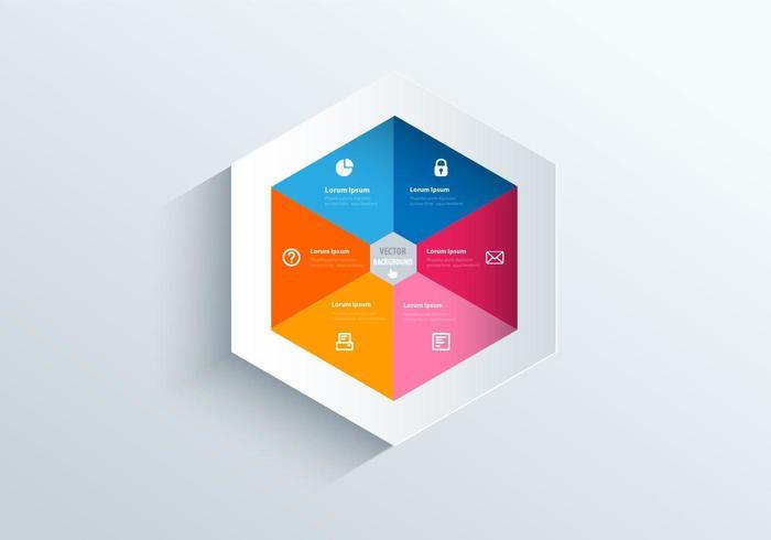 Hexagon Vorlage Vektor