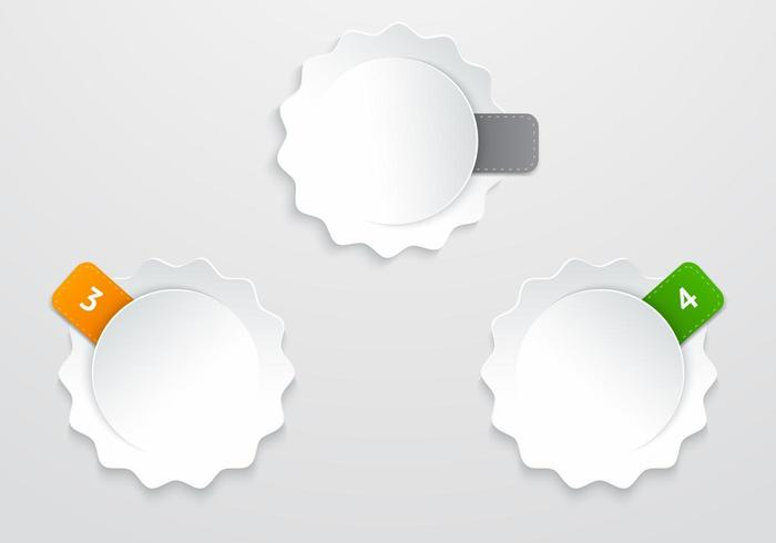 Labeled Stickers Vector