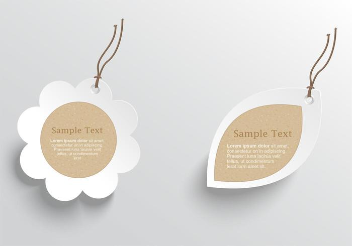 Natural Cardboard Tags Vector Pack