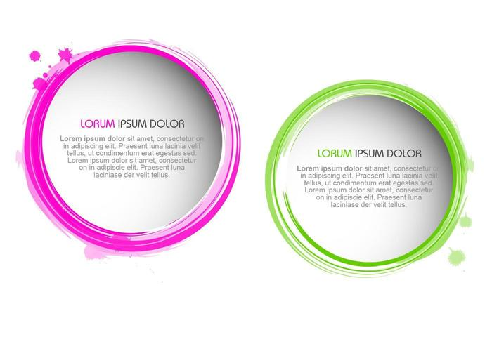 Splatter Paint Borders Vector Set