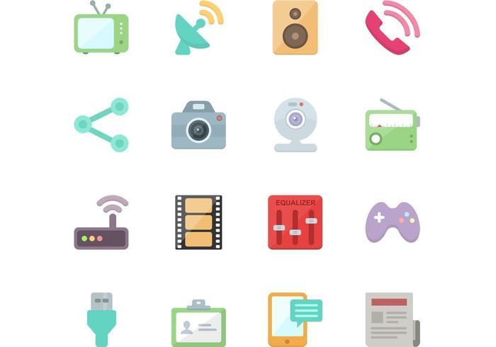 Gratis cadeau! 64 vlakke vector iconen