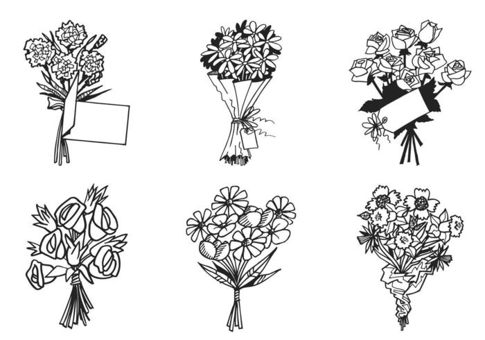 Bouquet de flores Vector Pack