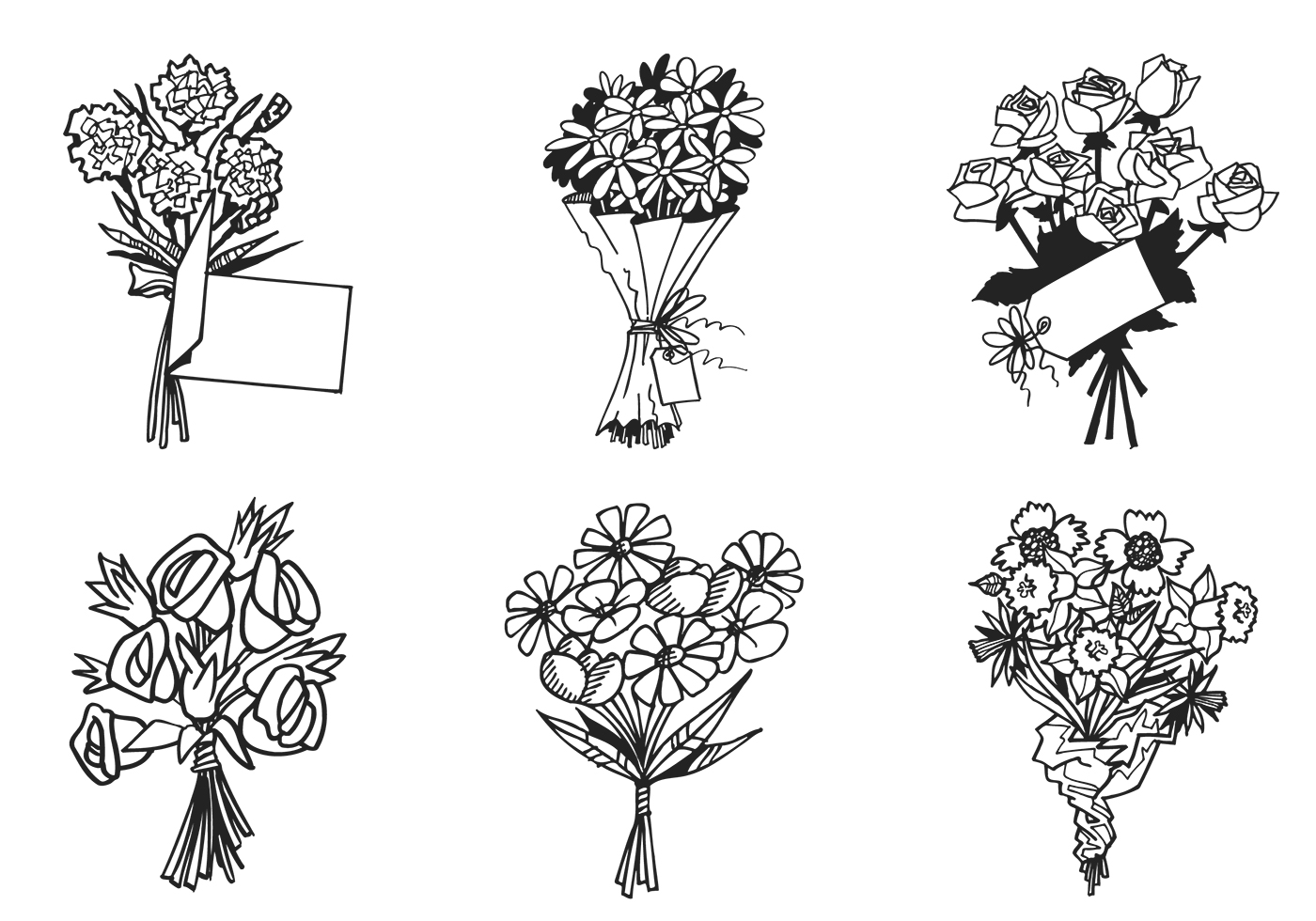 Flower Bouquet Vector Pack Download Free Vector Art Stock