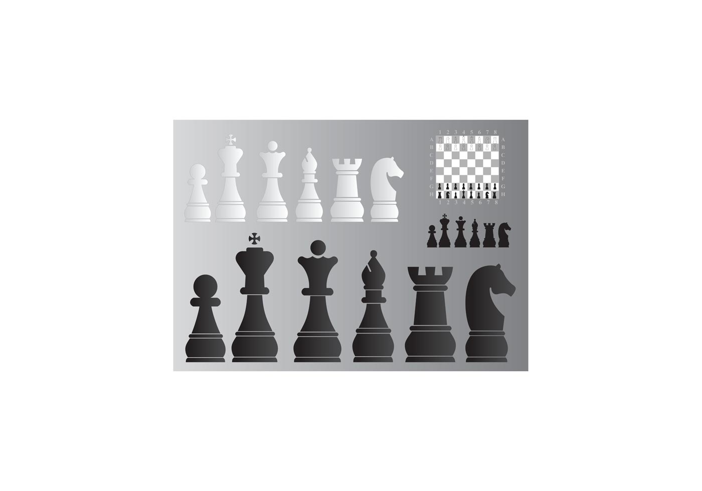 Chess Board and Pieces - Download Free Vector Art, Stock ...