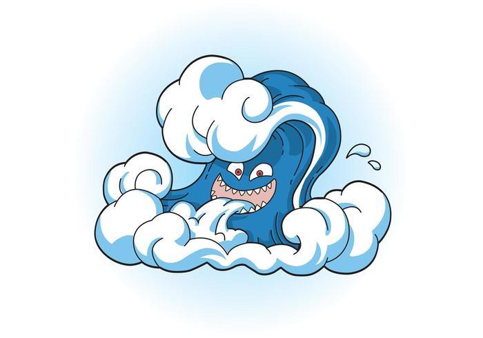 Comic Tsunami Wave Face