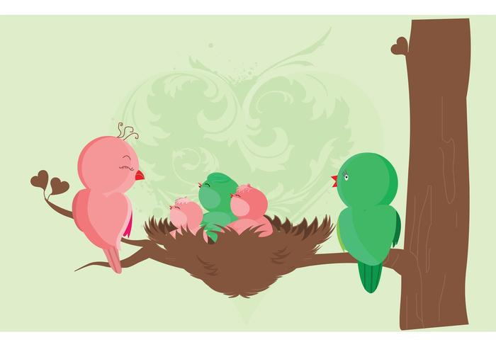 Baby Birds Birth Card