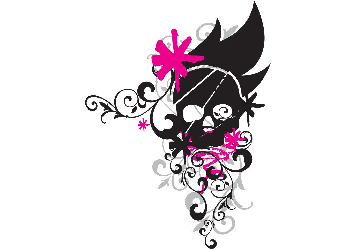 Flower Skull Download Free Vector Art Stock Graphics &