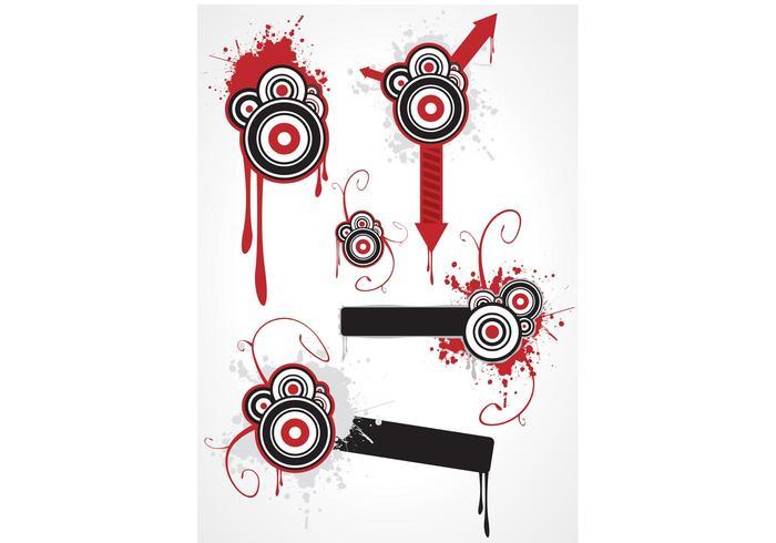 Grunge Circles & Arrows