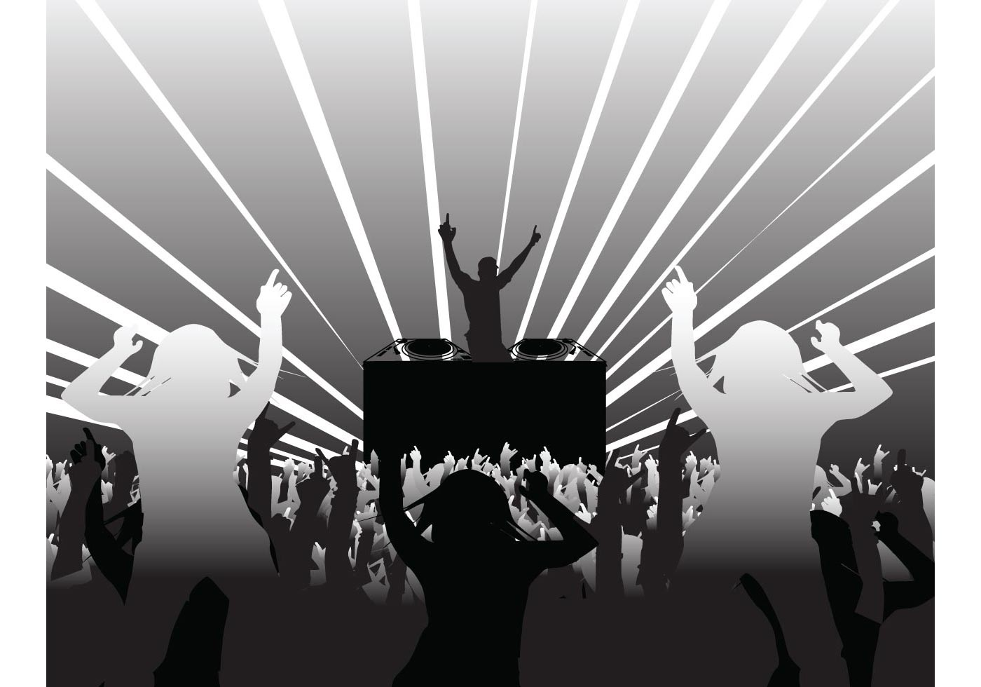 DJ and Party People - Download Free Vector Art, Stock ...