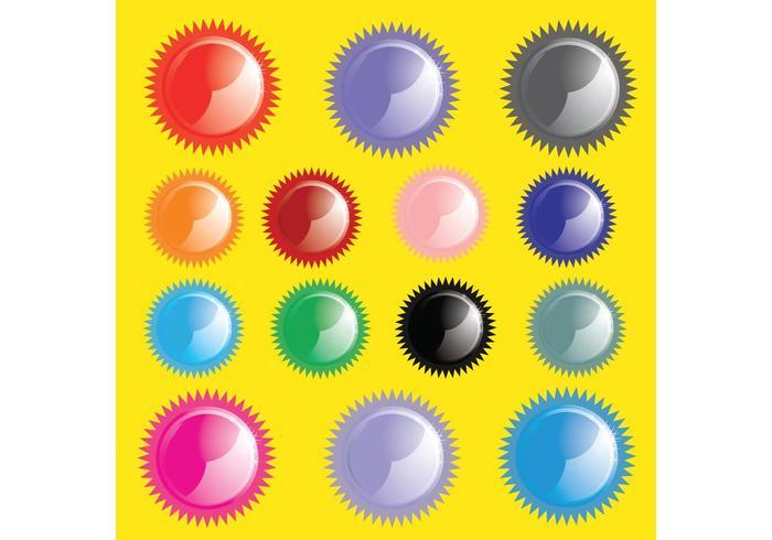 Shiny Sun Buttons