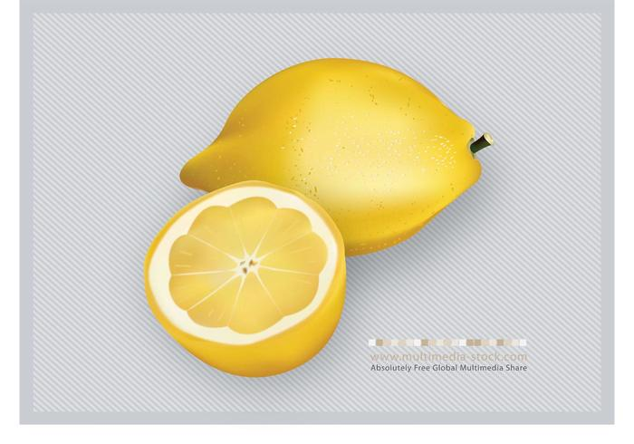 3D Lemons Fruit Vector