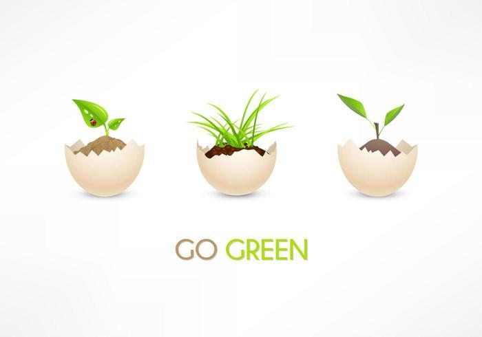 Eco Go Green Eggs Vector