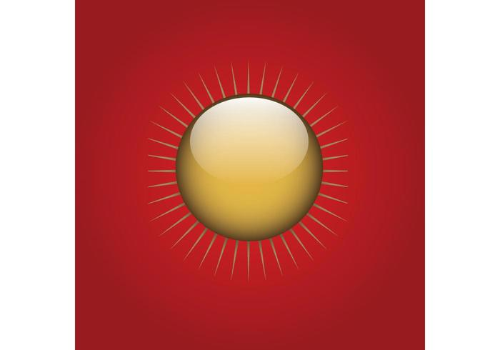 Gold Sun Button