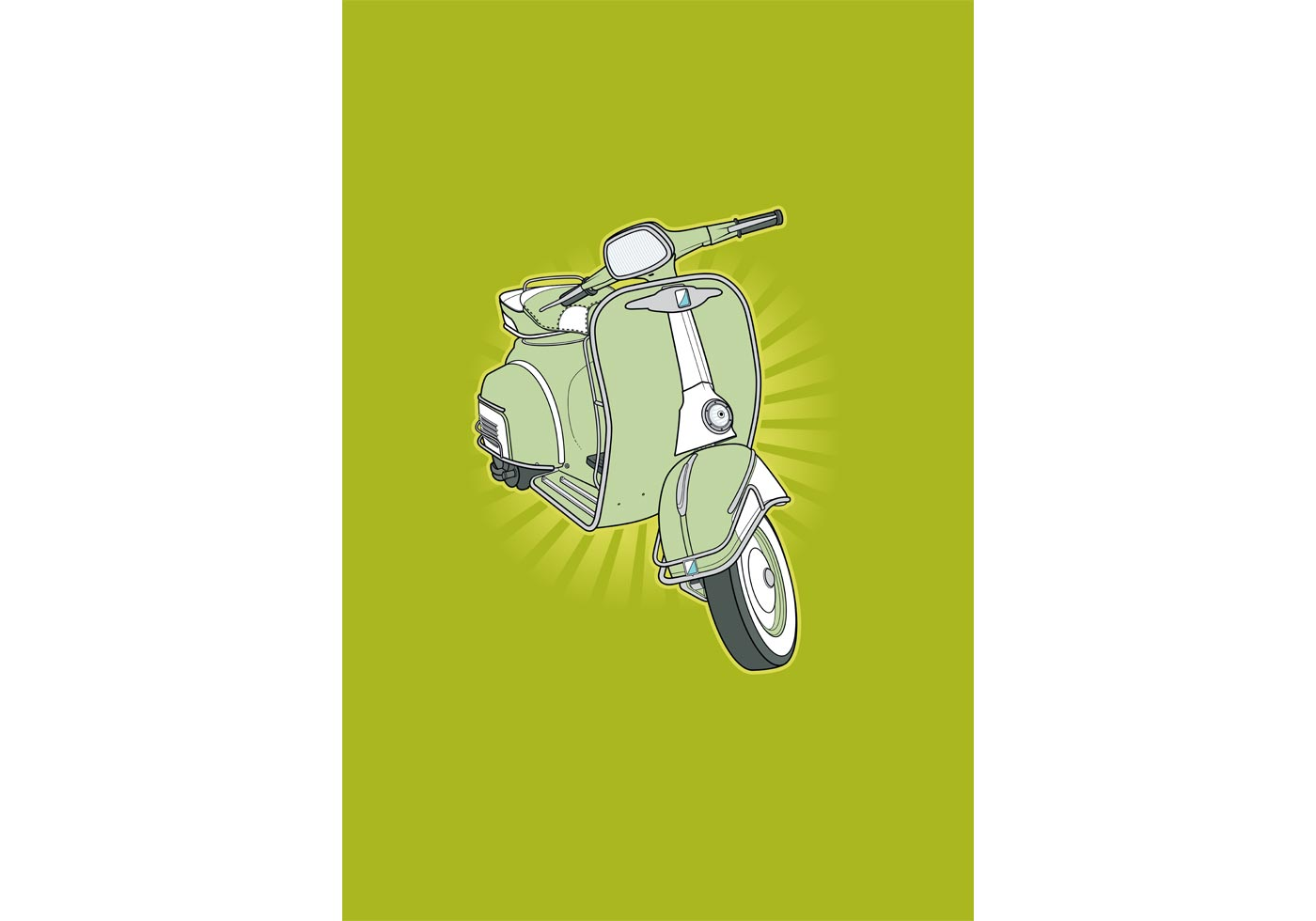 Retro Vespa - Download Free Vector Art, Stock Graphics ...