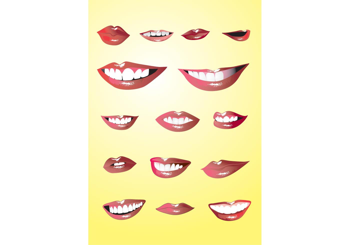 lips set download free vector art stock graphics amp images