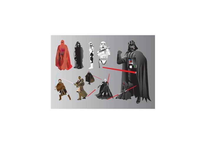 Star Wars Illustrationen vektor
