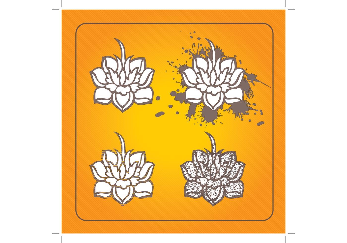 Lotus Flower Free Vector Art 9171 Free Downloads