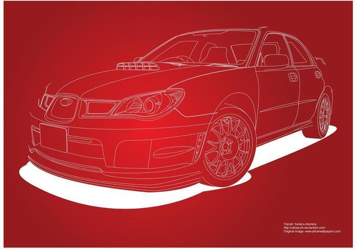 Coche Subaru Impreza vector