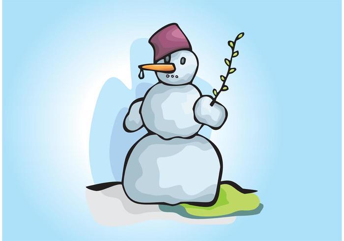 Snowman Winter Scene Illustration