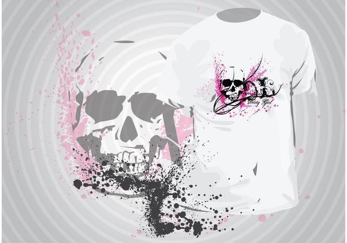 Modèle de t-shirt en grunge