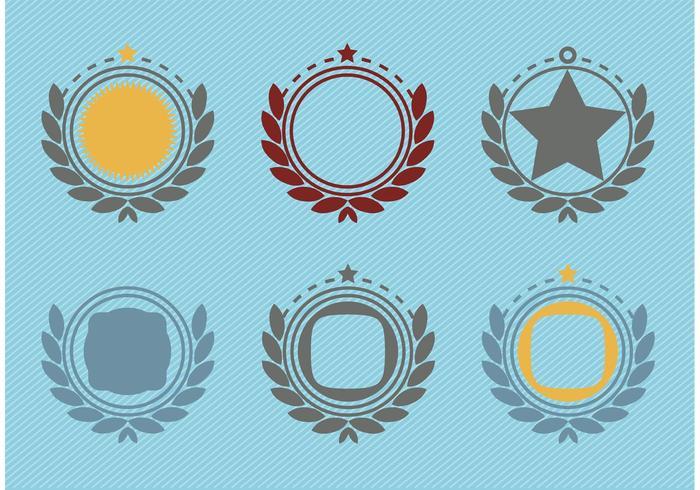Retro Emblem Badge Decorations