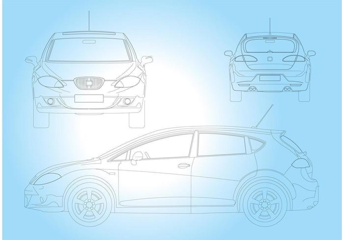 Seat Leon Car vector