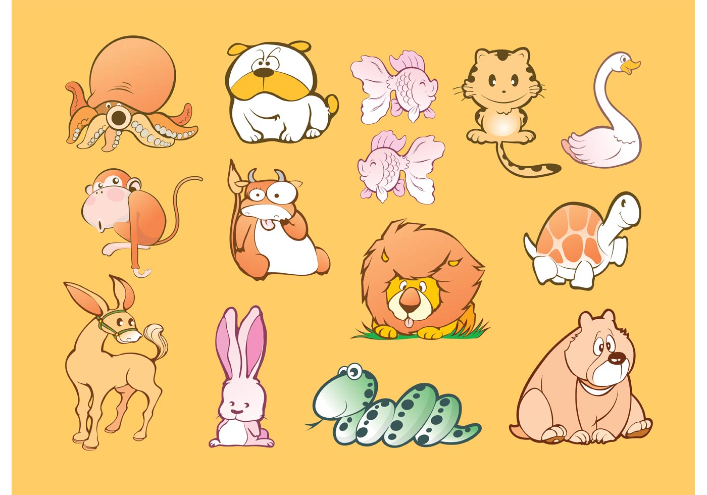 animal cartoons download free vector art stock graphics images