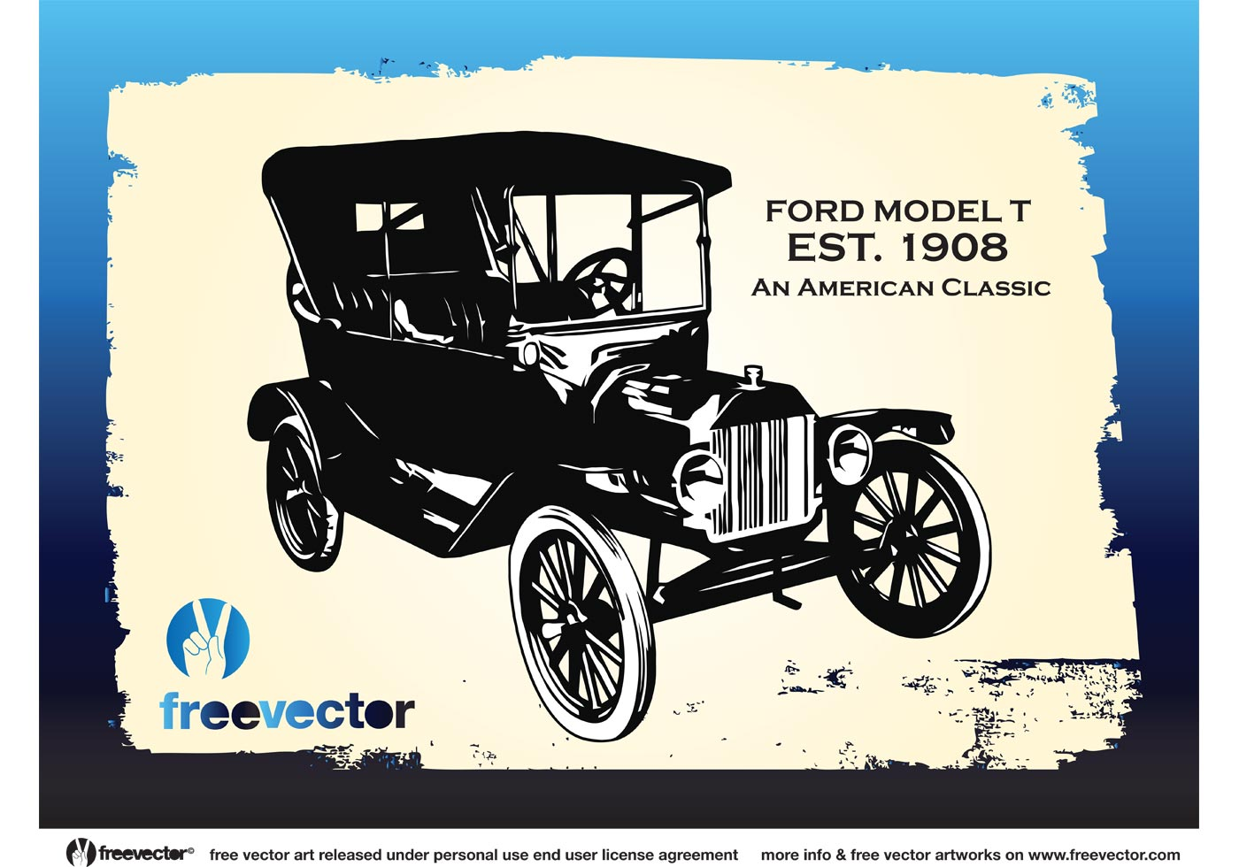 Vintage Ford Car - Download Free Vector Art, Stock Graphics & Images