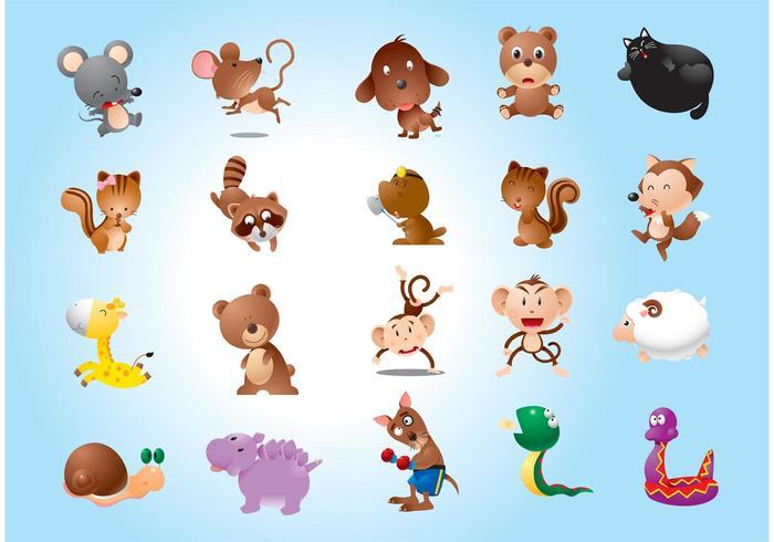 Animales Vectores Personajes