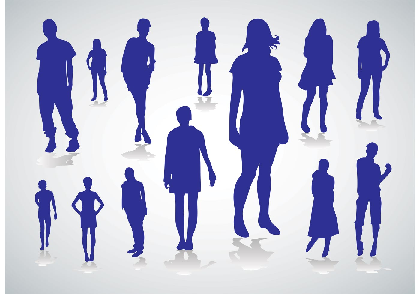 People Silhouettes Vectors