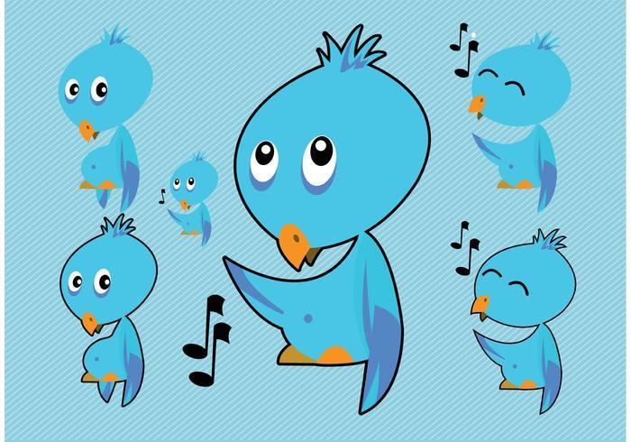 Blue Bird Vectors