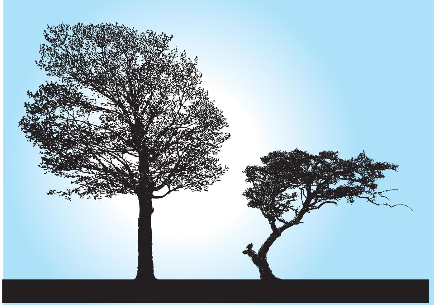 Tree Silhouette Vectors - Download Free Vector Art, Stock ...