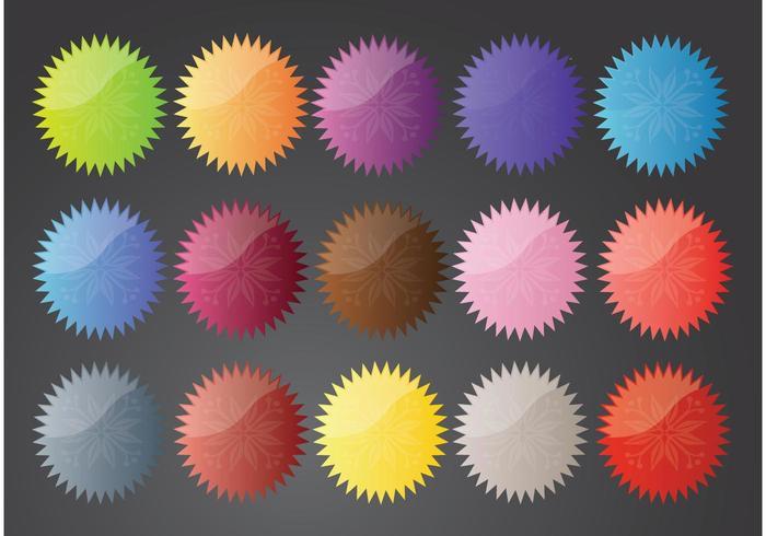 Flower Star Buttons