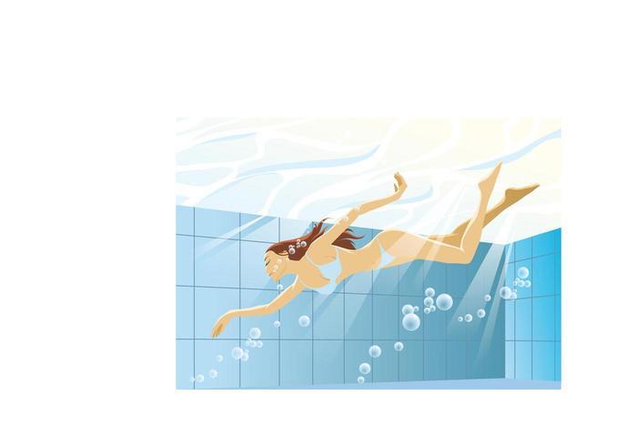 Swimming Bikini Girl